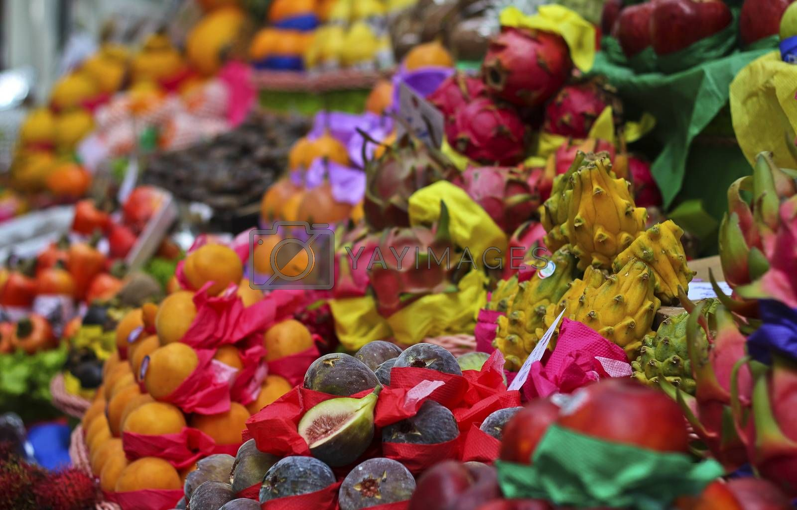 Tropical fruit vendor at Sao Paulo Central Market