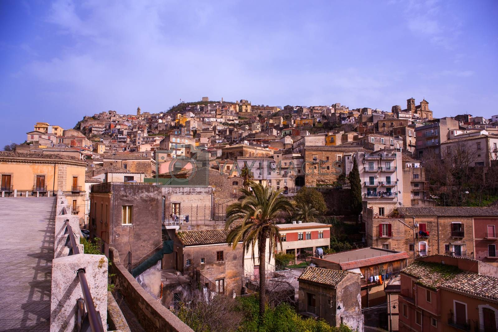 View of Agira, Sicily by bepsimage