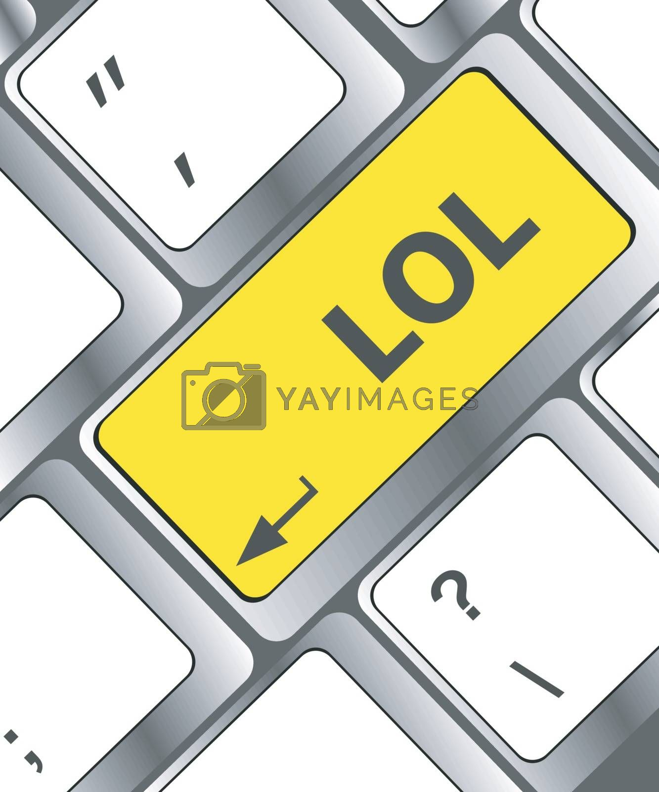 keys saying lol on black keyboard