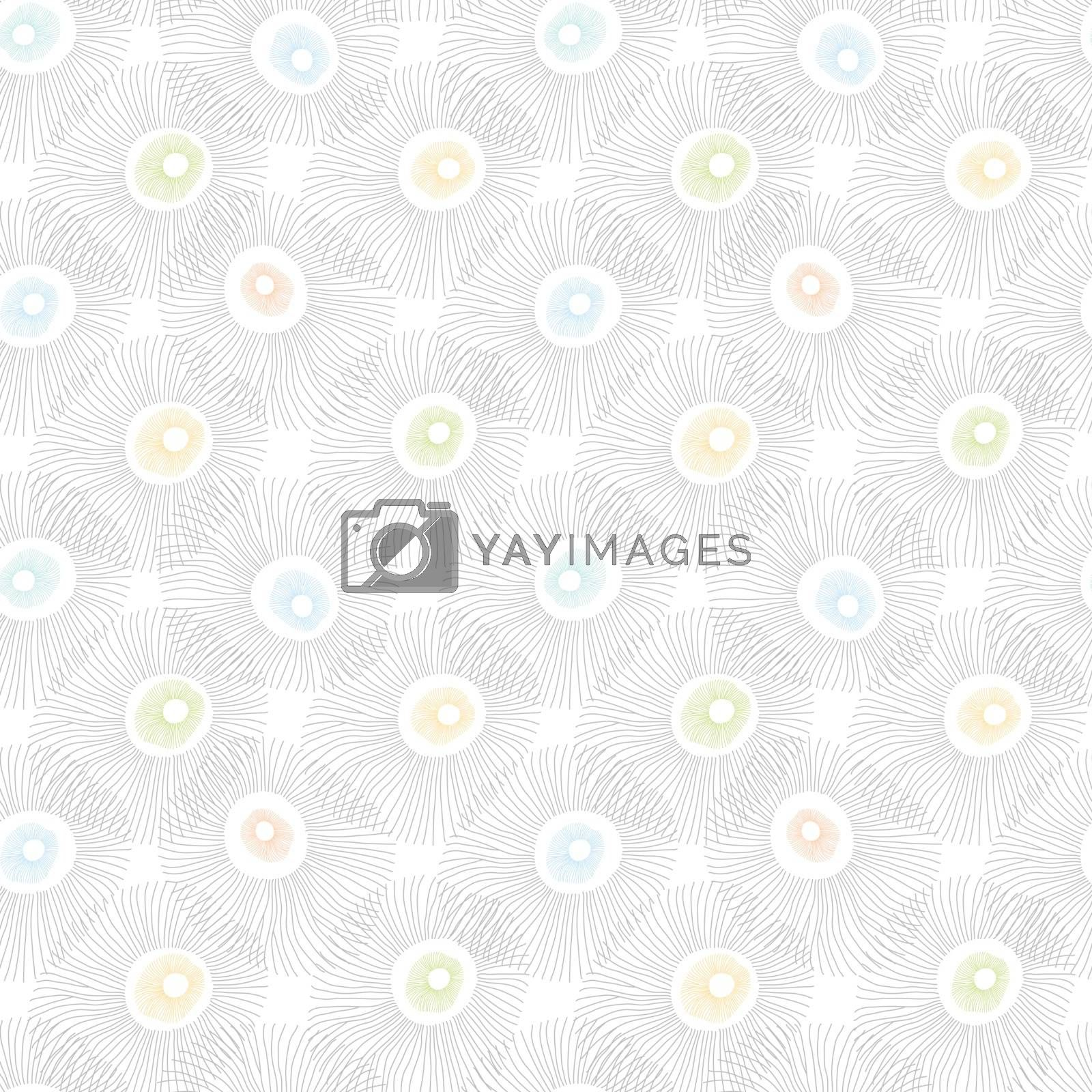 Vector abstract seaweed seamless pattern graphic design