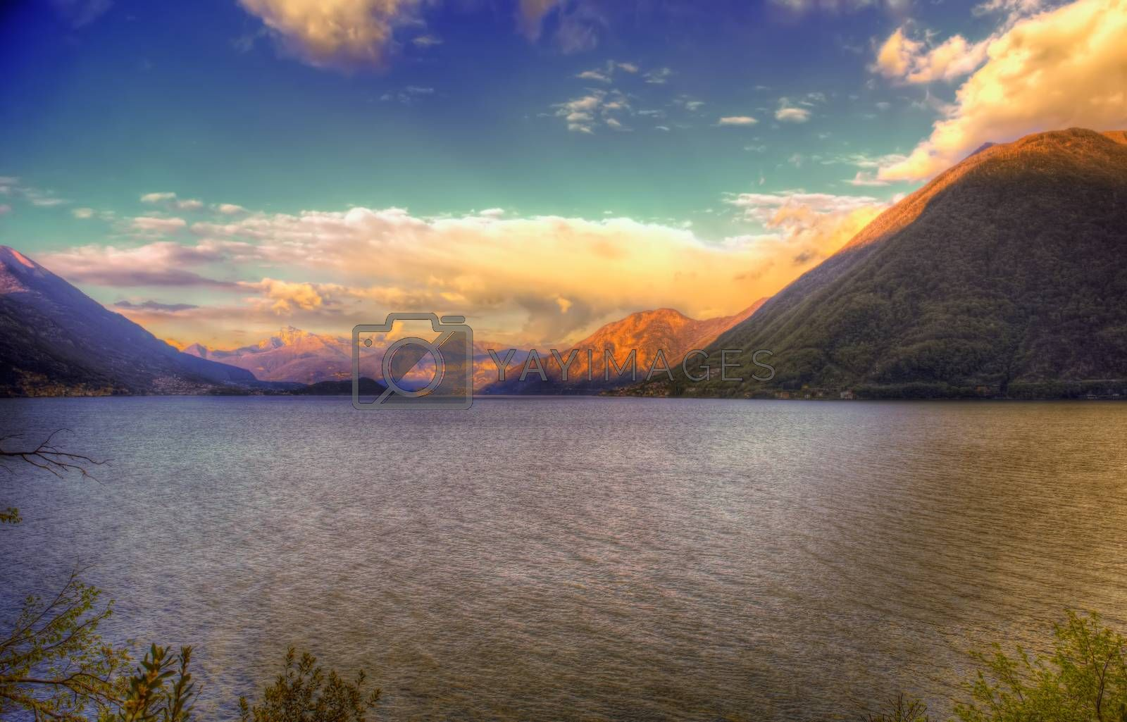 Lake Lugano or Ceresio lake by bepsimage