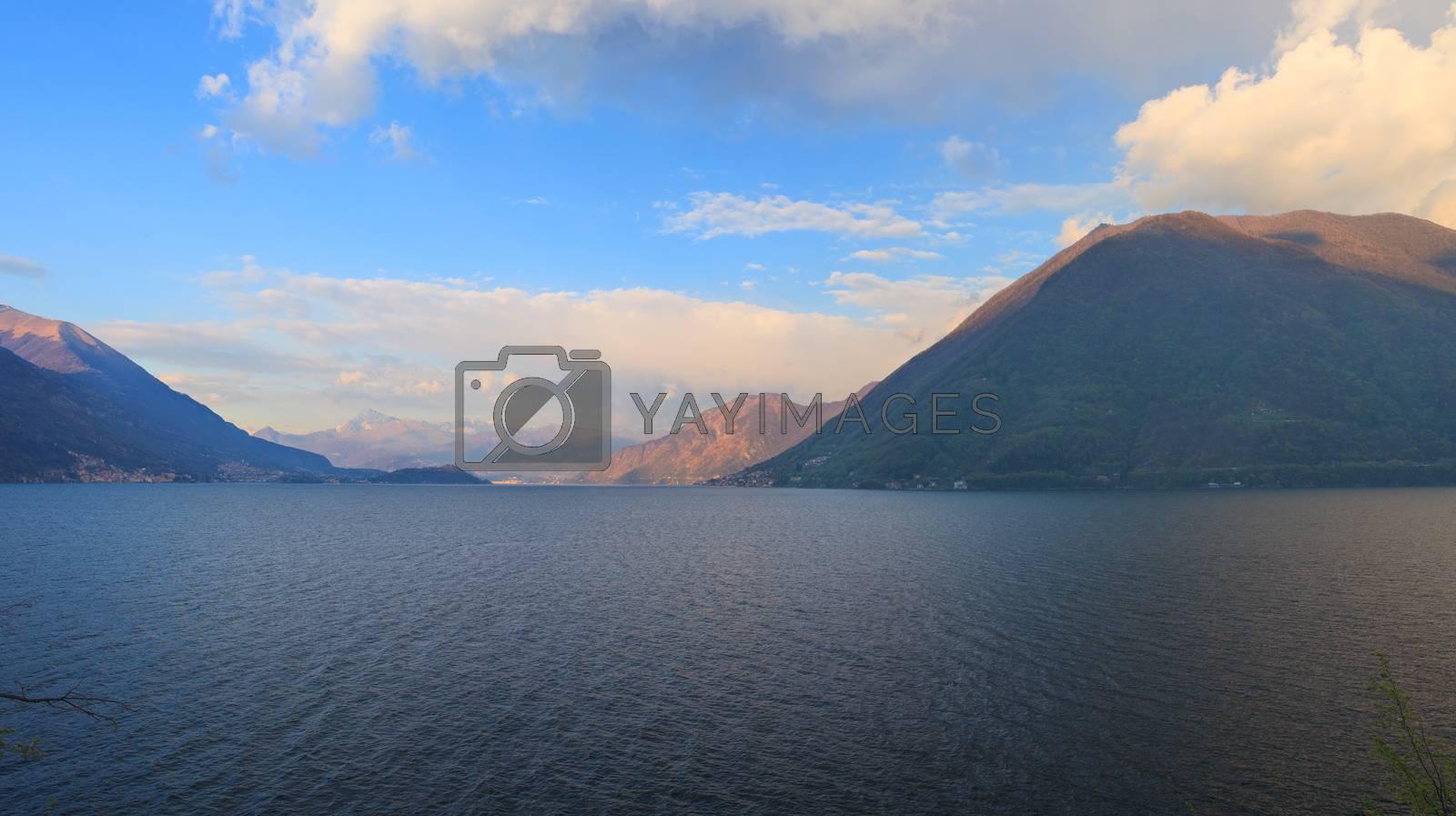 Lake Lugano or Ceresio lake by bepsimage