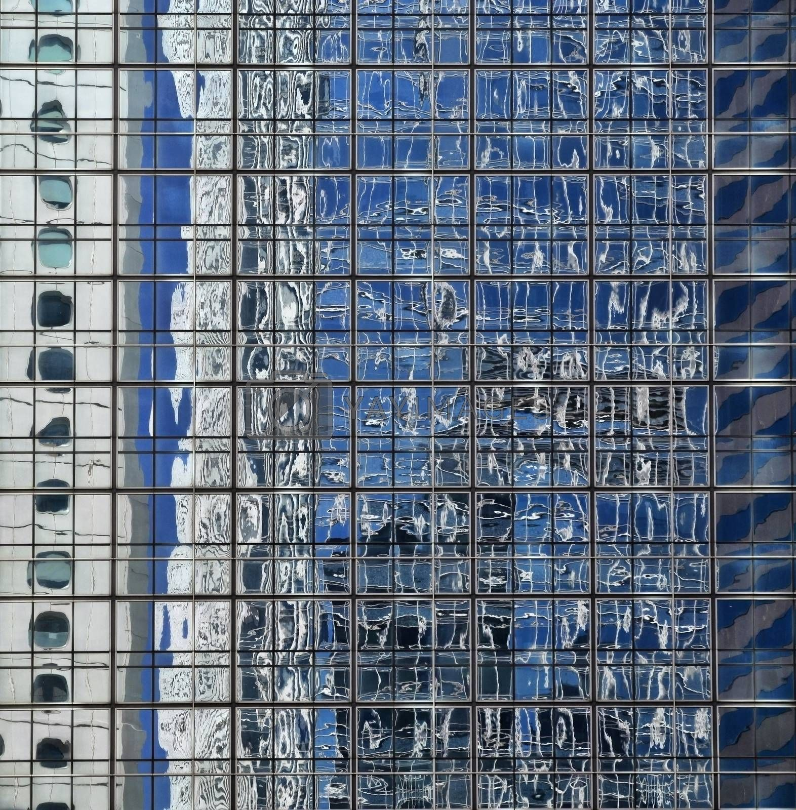Fasade of office building in Hong Kong