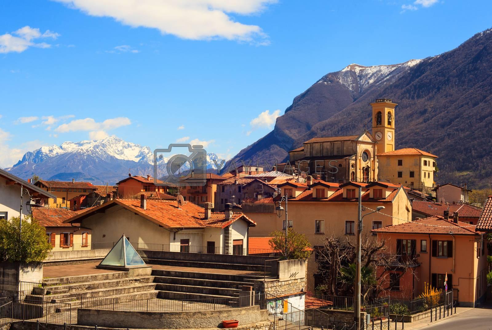 View of Parrocchia dei SS. Martino e Materno, Corrido. Como, Italy