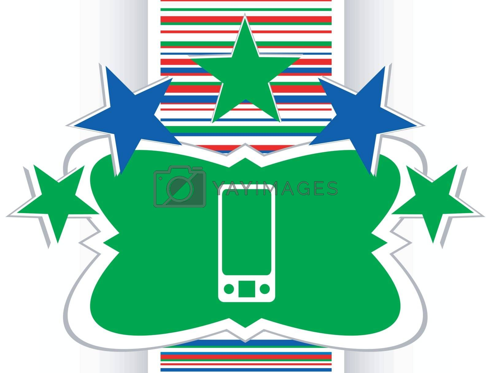 multimedia smart phone icon, button, graphic design element