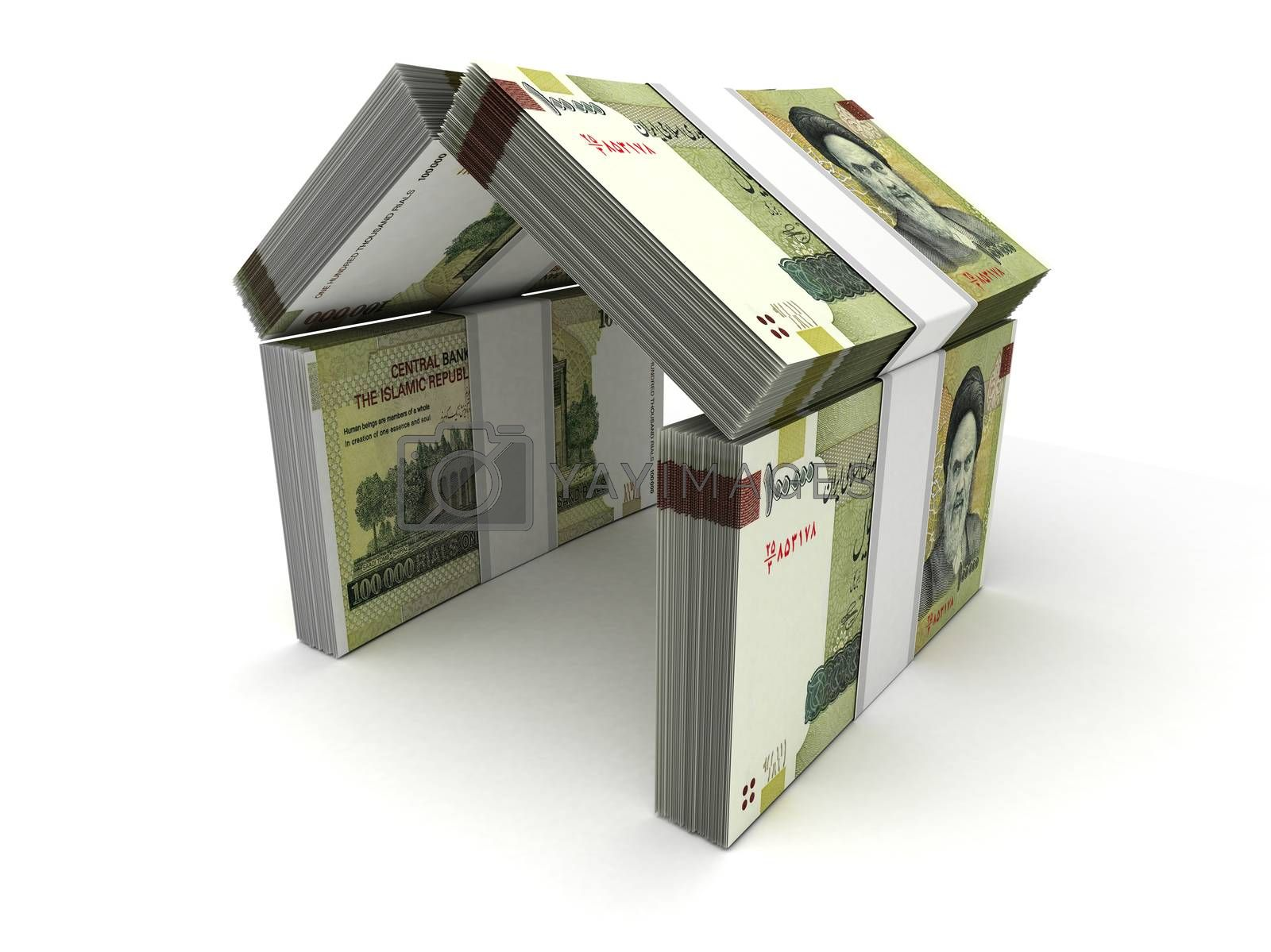 Real Estate Concept Iranian Rial