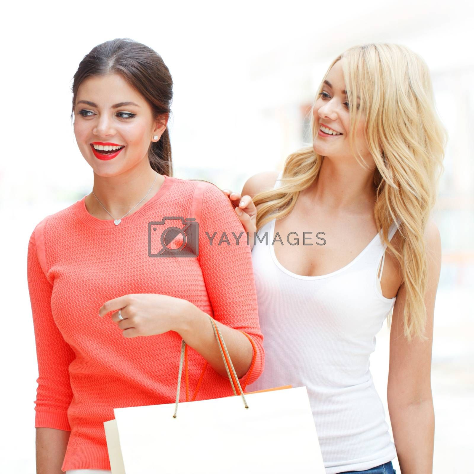 women shopping at mall by ALotOfPeople