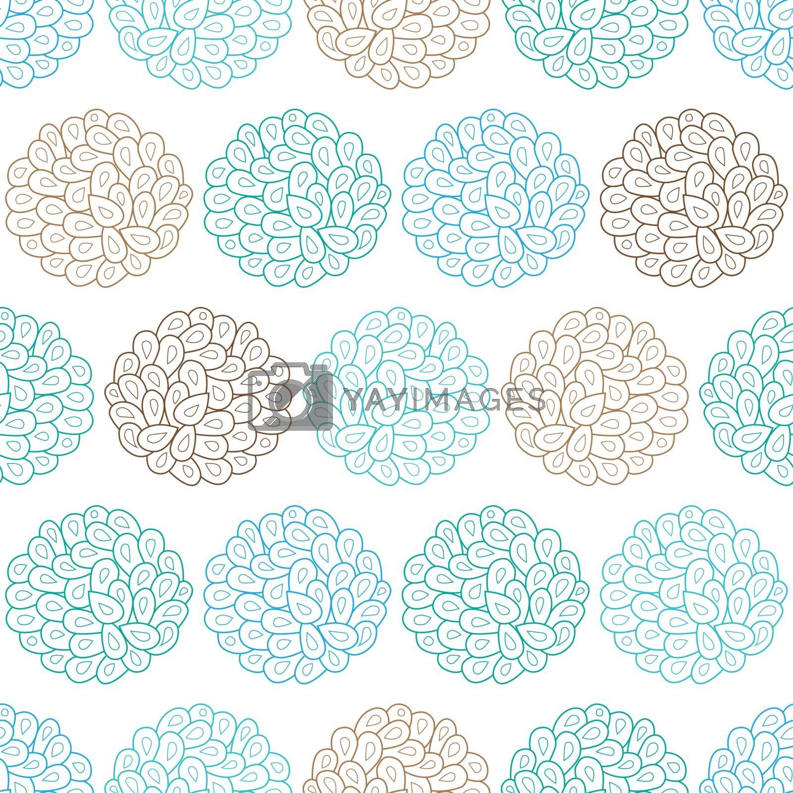 Vector drops bubbles seamless pattern graphic design