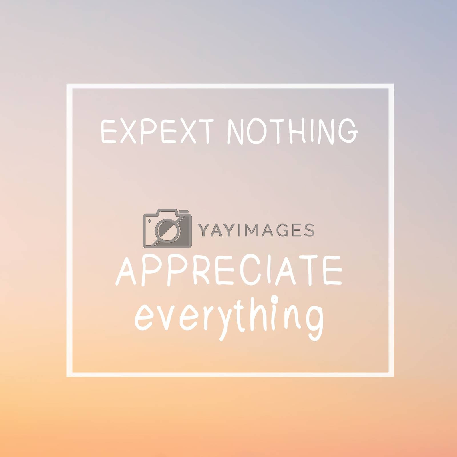 Inspirational motivating quote on blurred background with retro filter effect