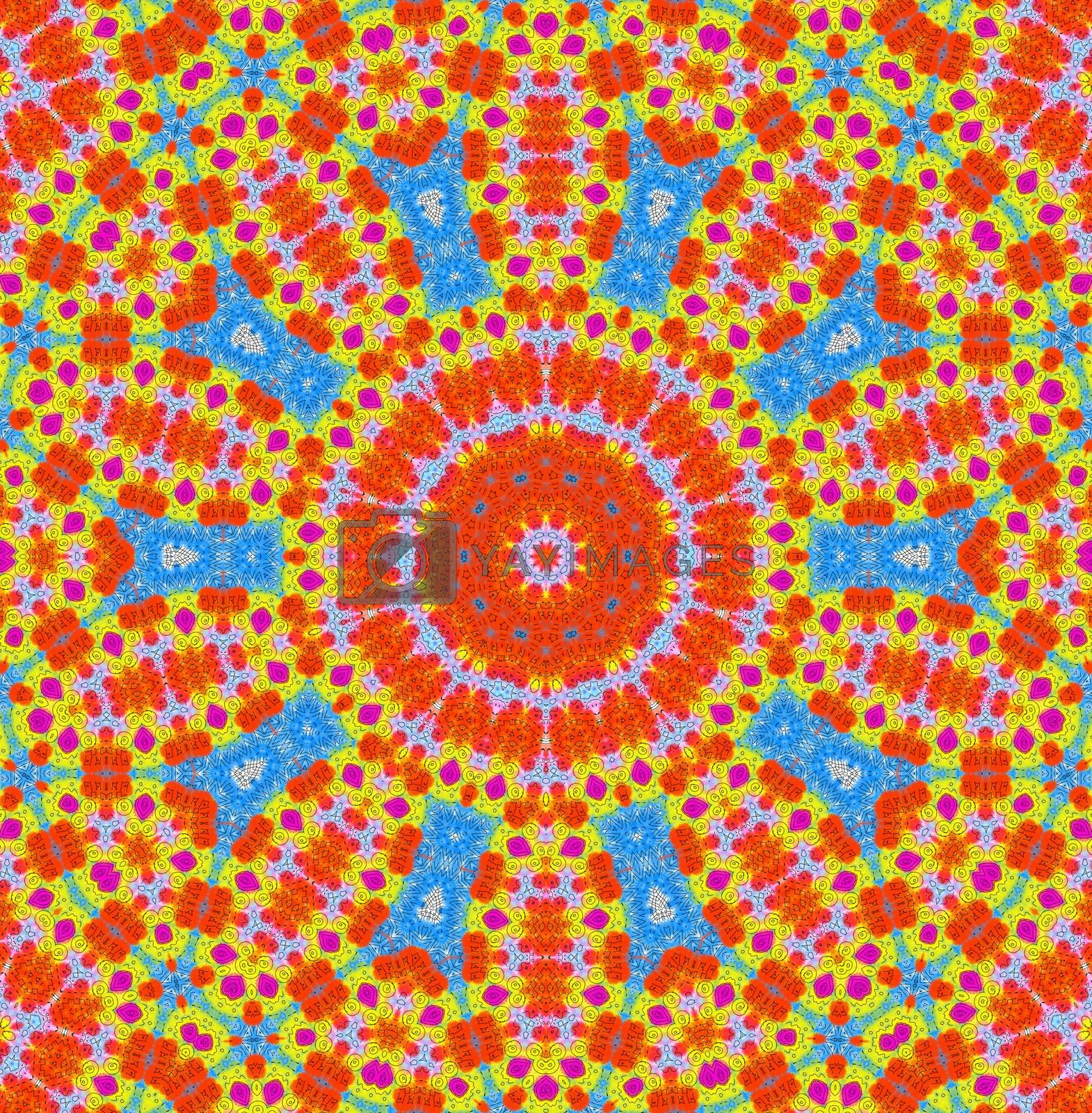 Abstract background with bright color concentric pattern