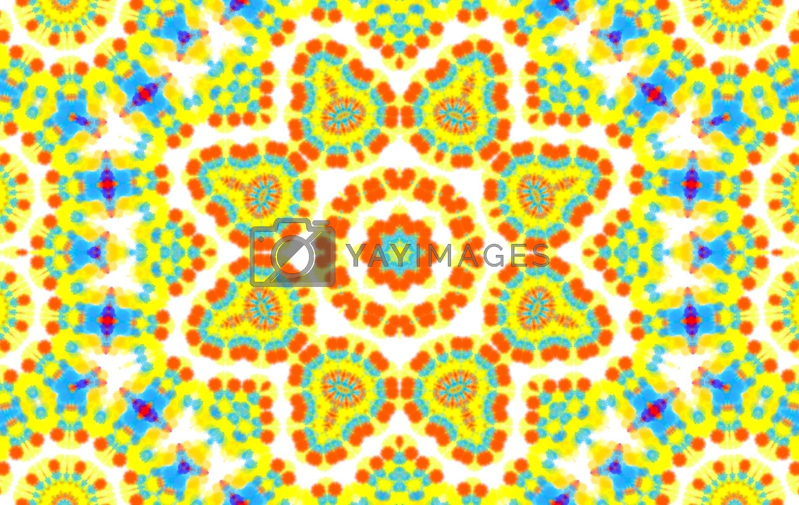 Background with abstract concentric colorful pattern