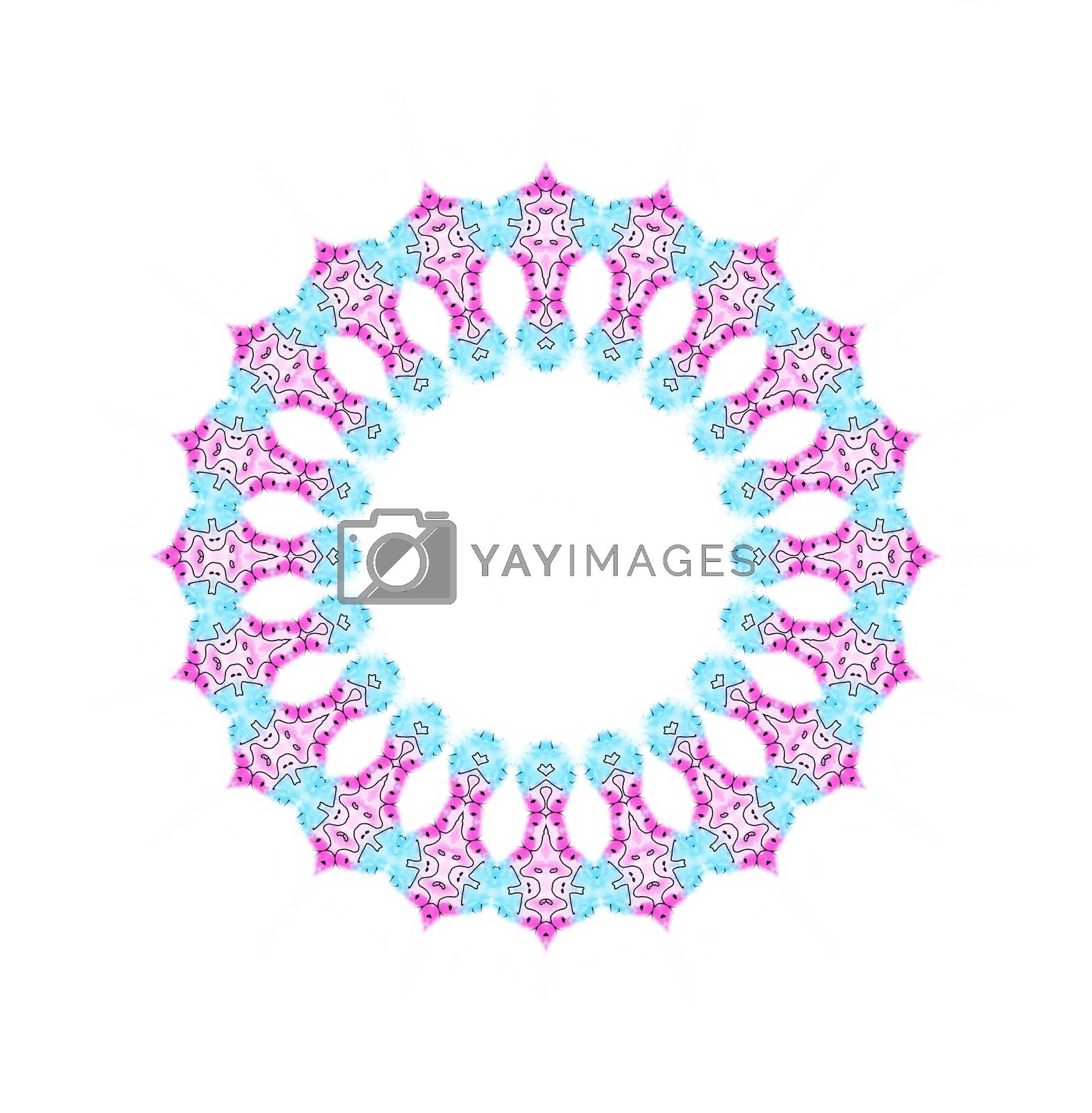 Abstract color shape on white background