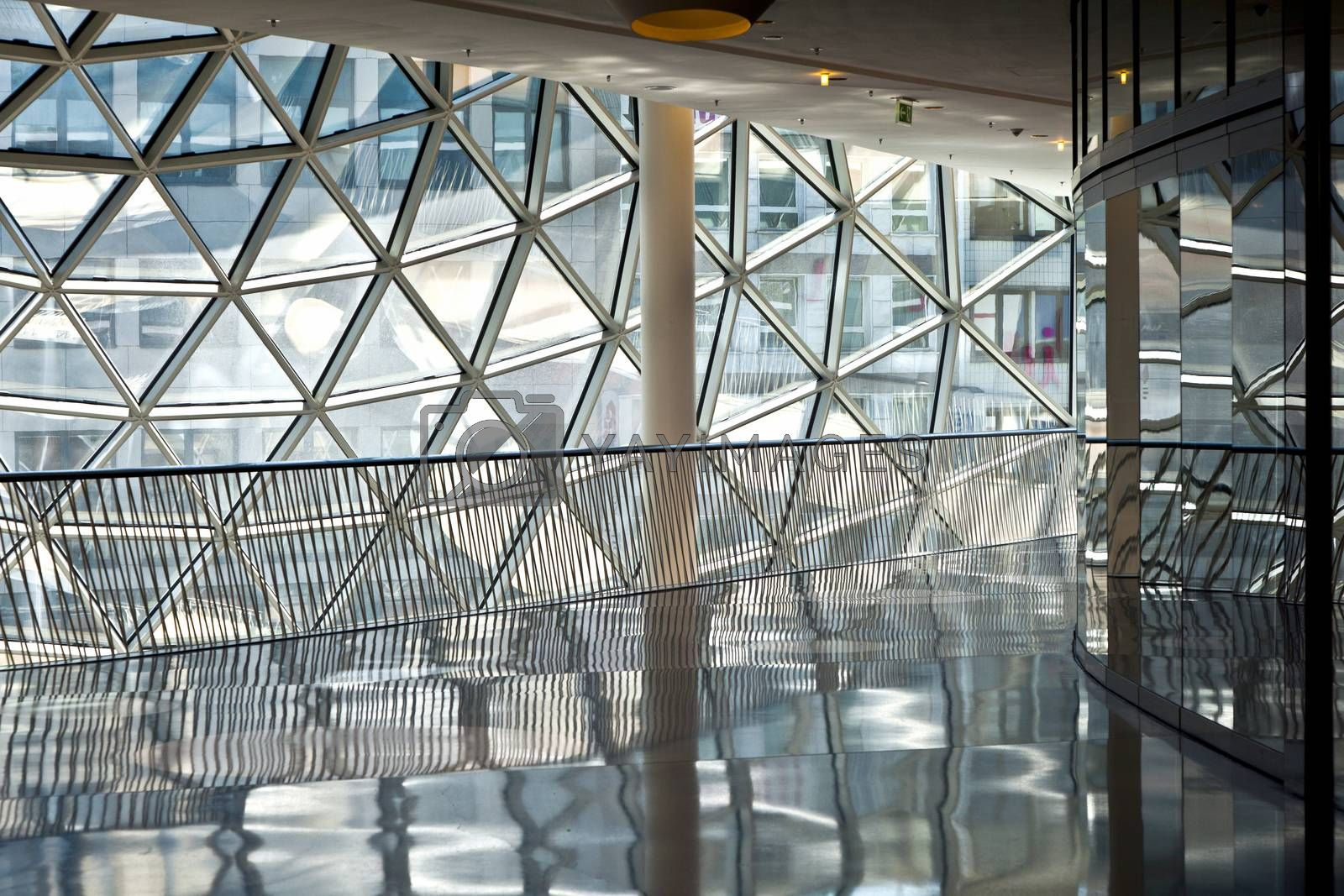 FRANKFURT, GERMANY - AUG 21, 2010: futuristic shopping center Myzeil in Frankfurt, Germany. It was opened in 2009 by Roman architect Massimiliano Fuksas.