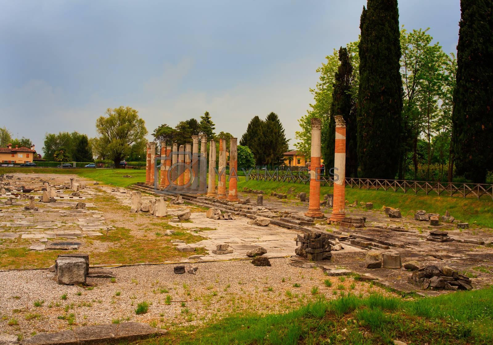 Roman ruins, Aquileia by bepsimage