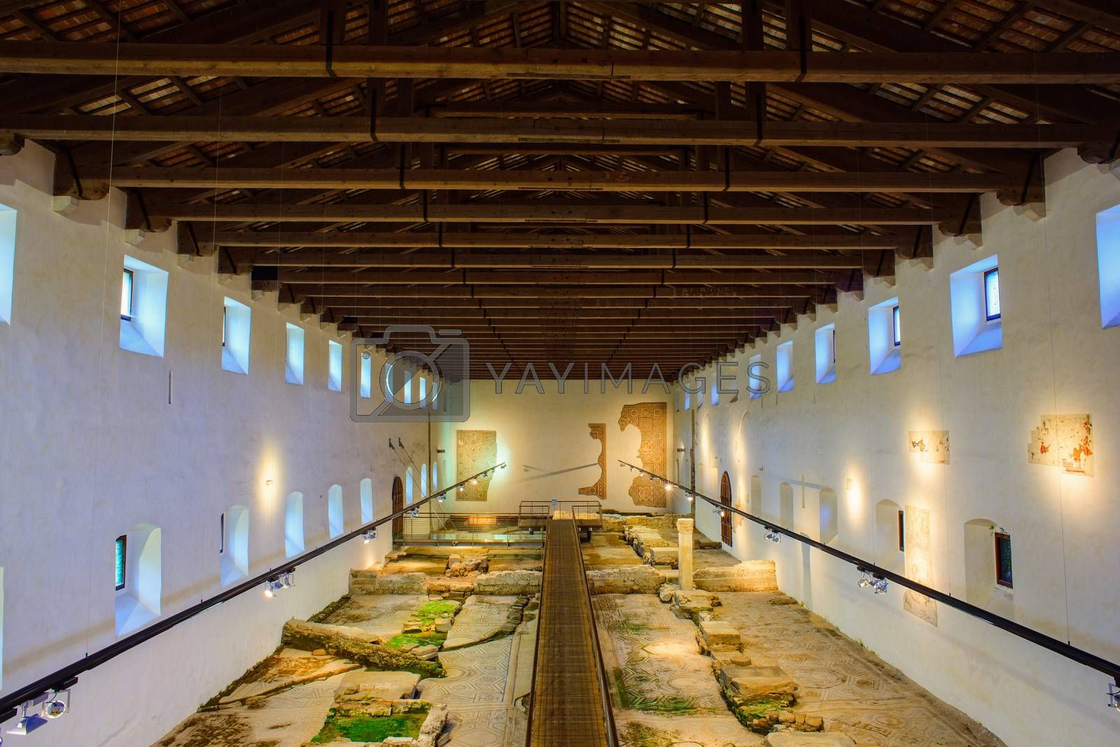 AQUILEIA, ITALY - MAY, 01: Aquileia National Archaeological Museum, UNESCO World Heritage Site on May 01, 2015