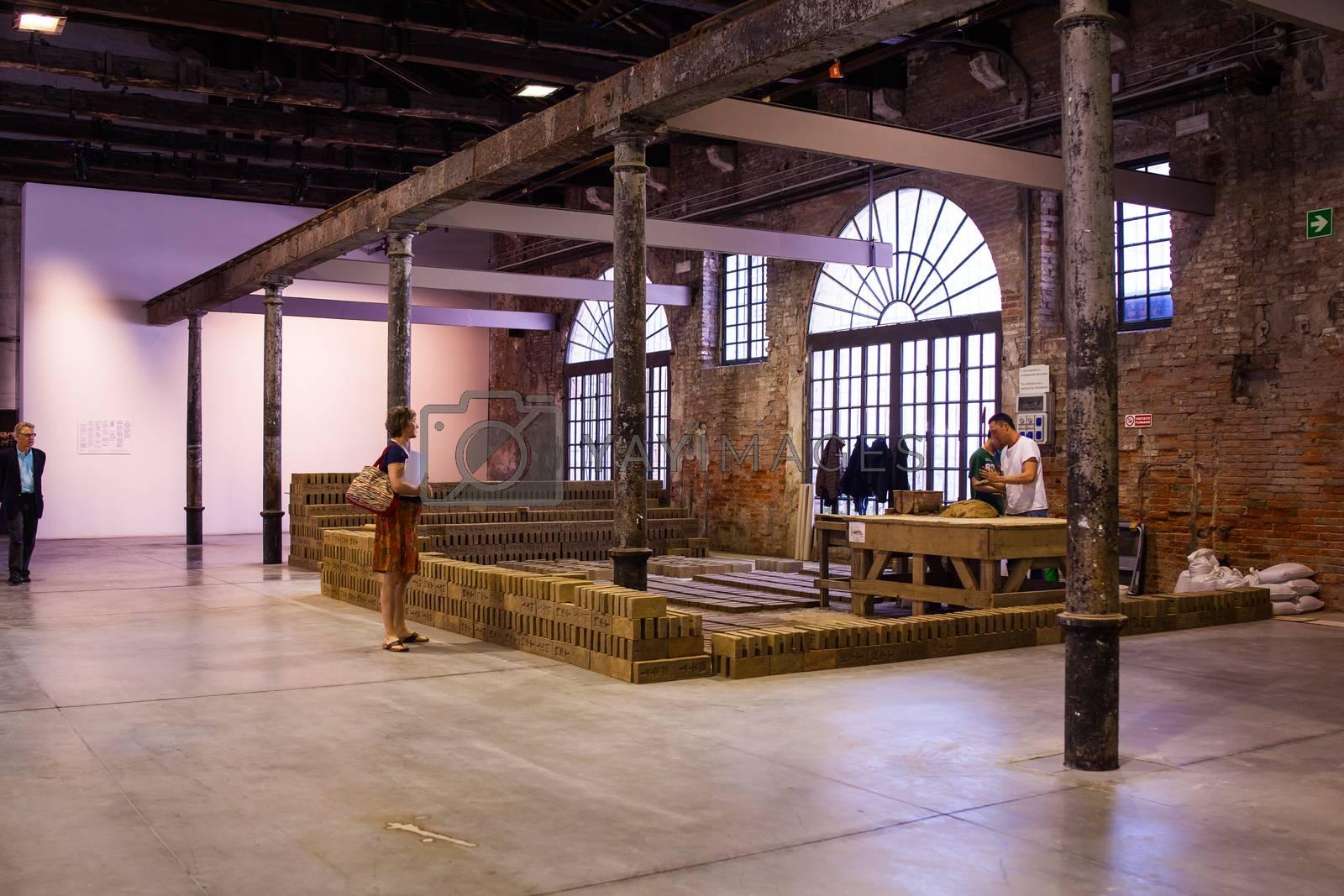 Rirkrit Tiravanija installation, Arsenale. 56th Venice biennale by bepsimage