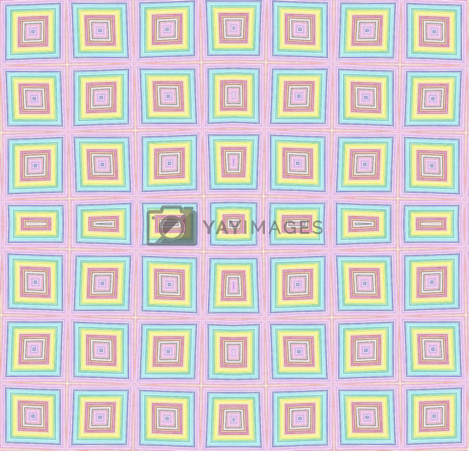 Abstract background with bright color checkered pattern