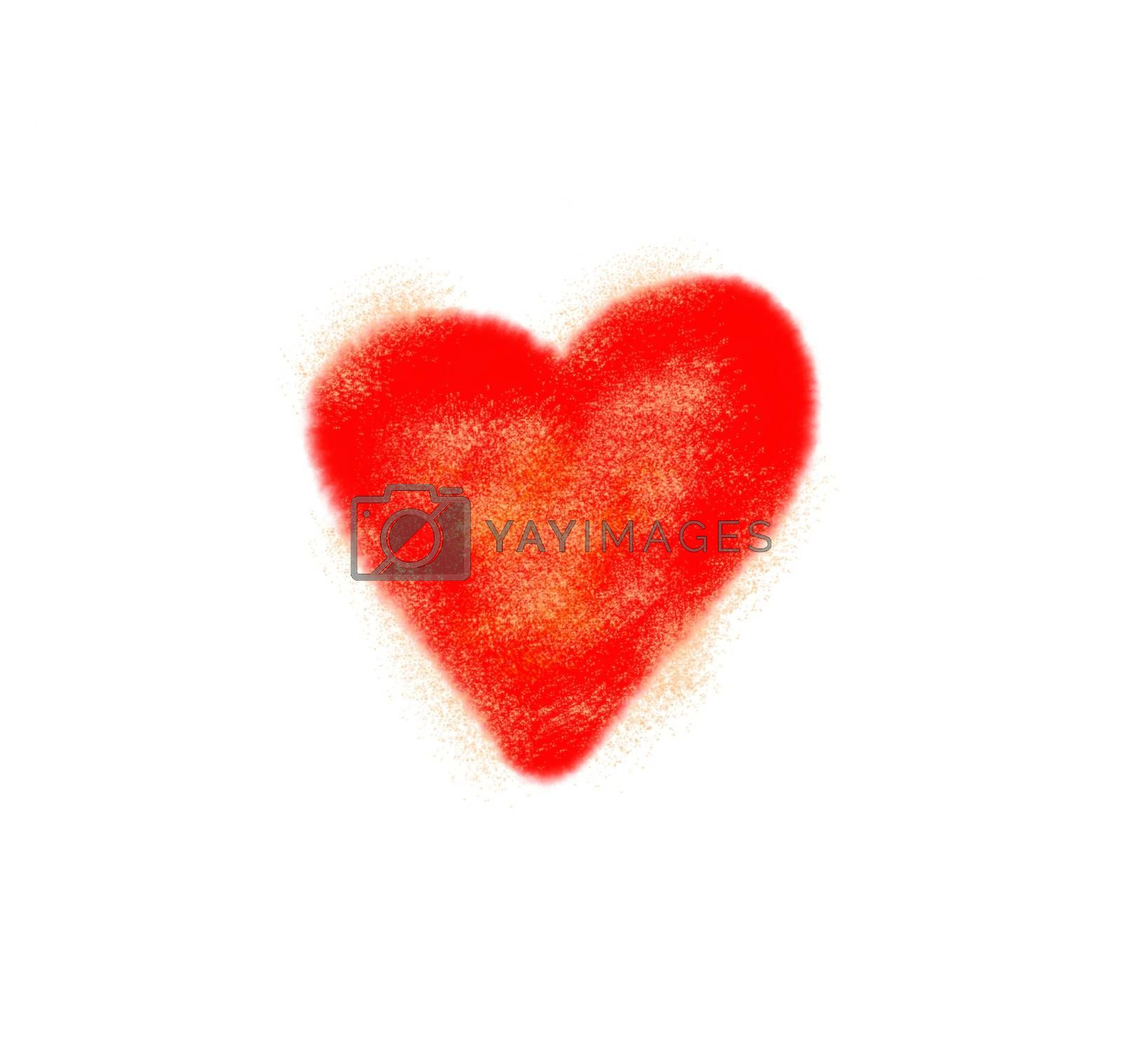 Abstract love symbol on white background