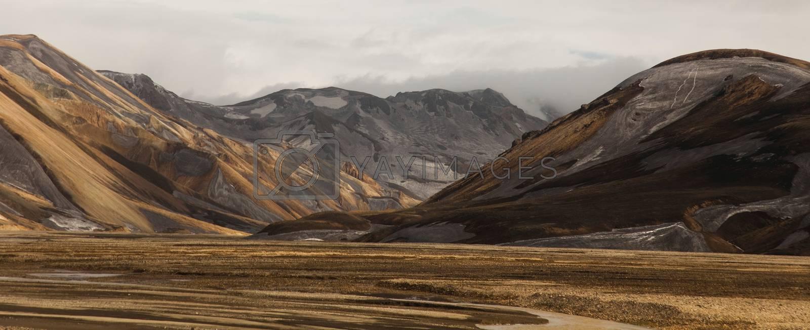 Mountain landscape , Landmannalaugar,Iceland, bright colorful vivid theme