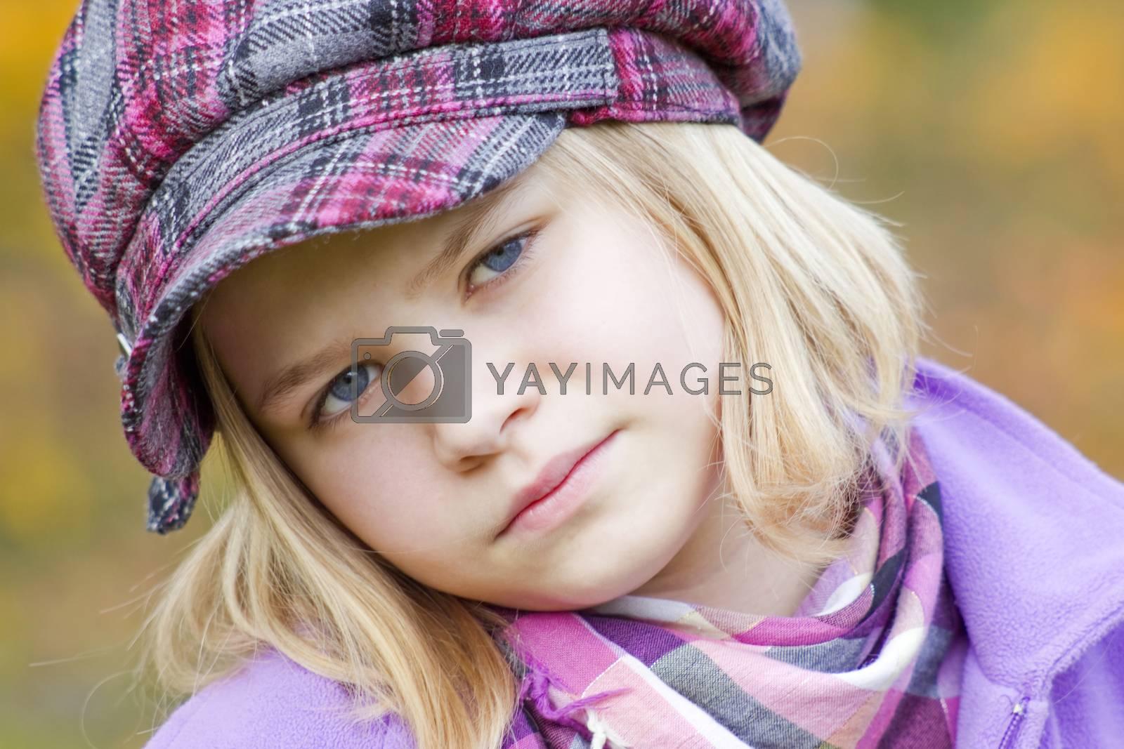 Autumn portrait of a lovely little girl by miradrozdowski