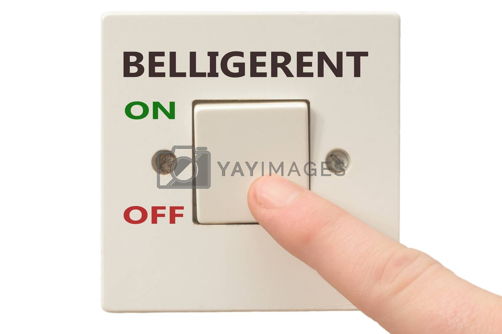Turning off Belligerent with finger on electrical switch