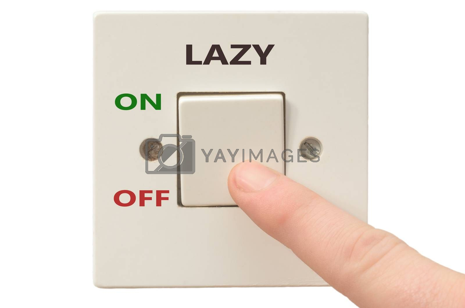 Turning off Lazy with finger on electrical switch