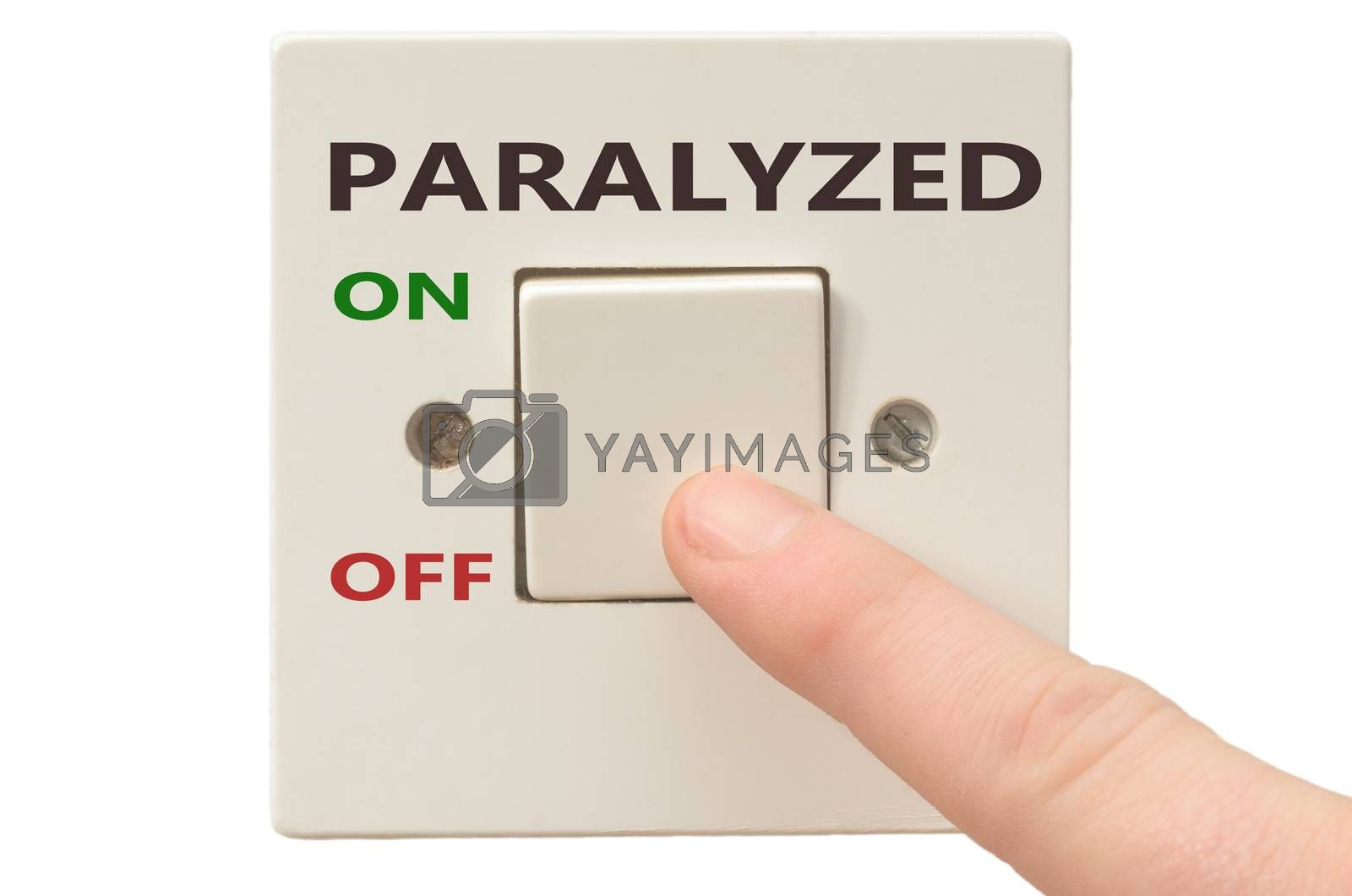 Turning off Paralyzed with finger on electrical switch