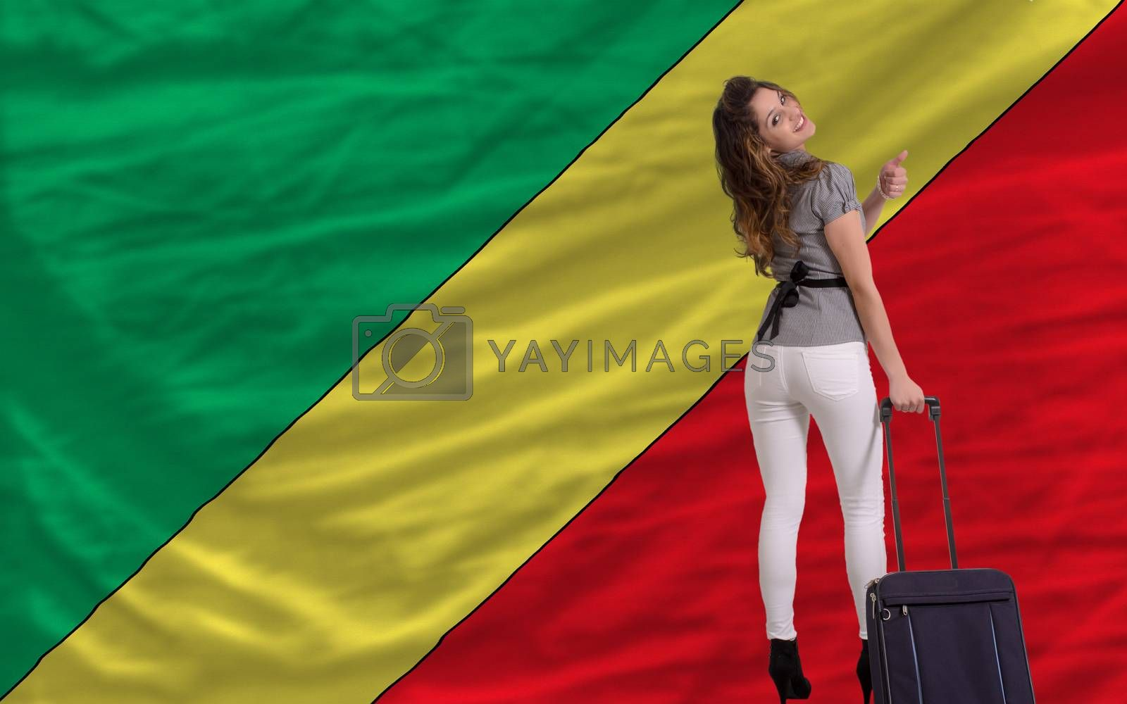 young beautiful woman is traveling to congo