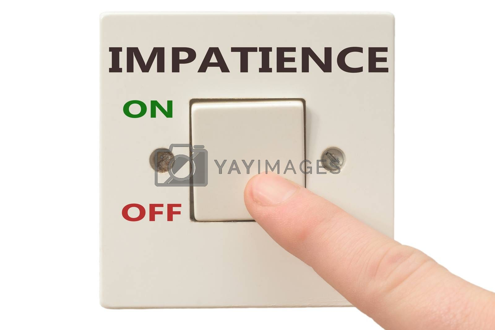 Turning off Impatience with finger on electrical switch