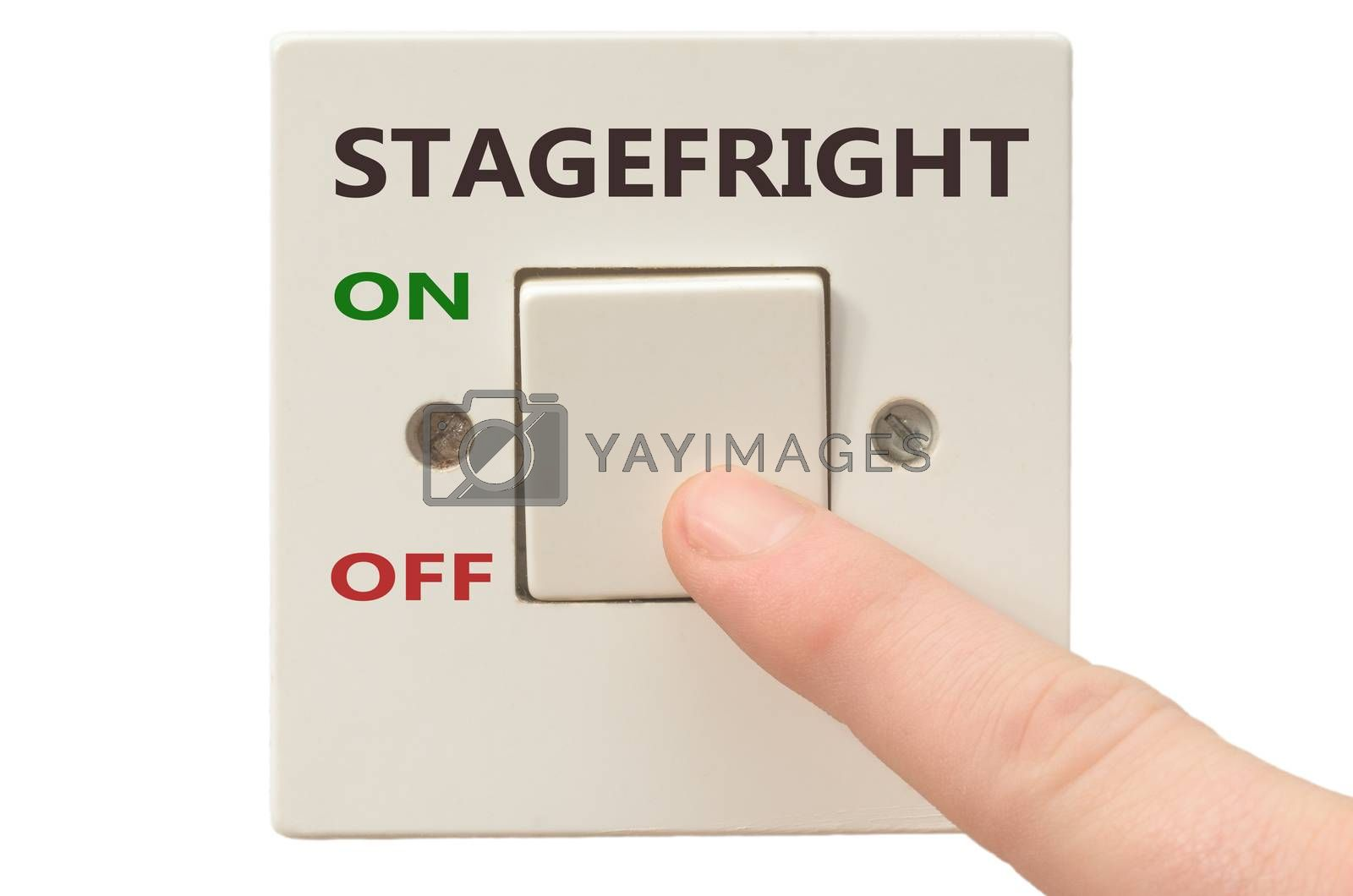 Royalty free image of Dealing with Stagefright, turn it off by vepar5