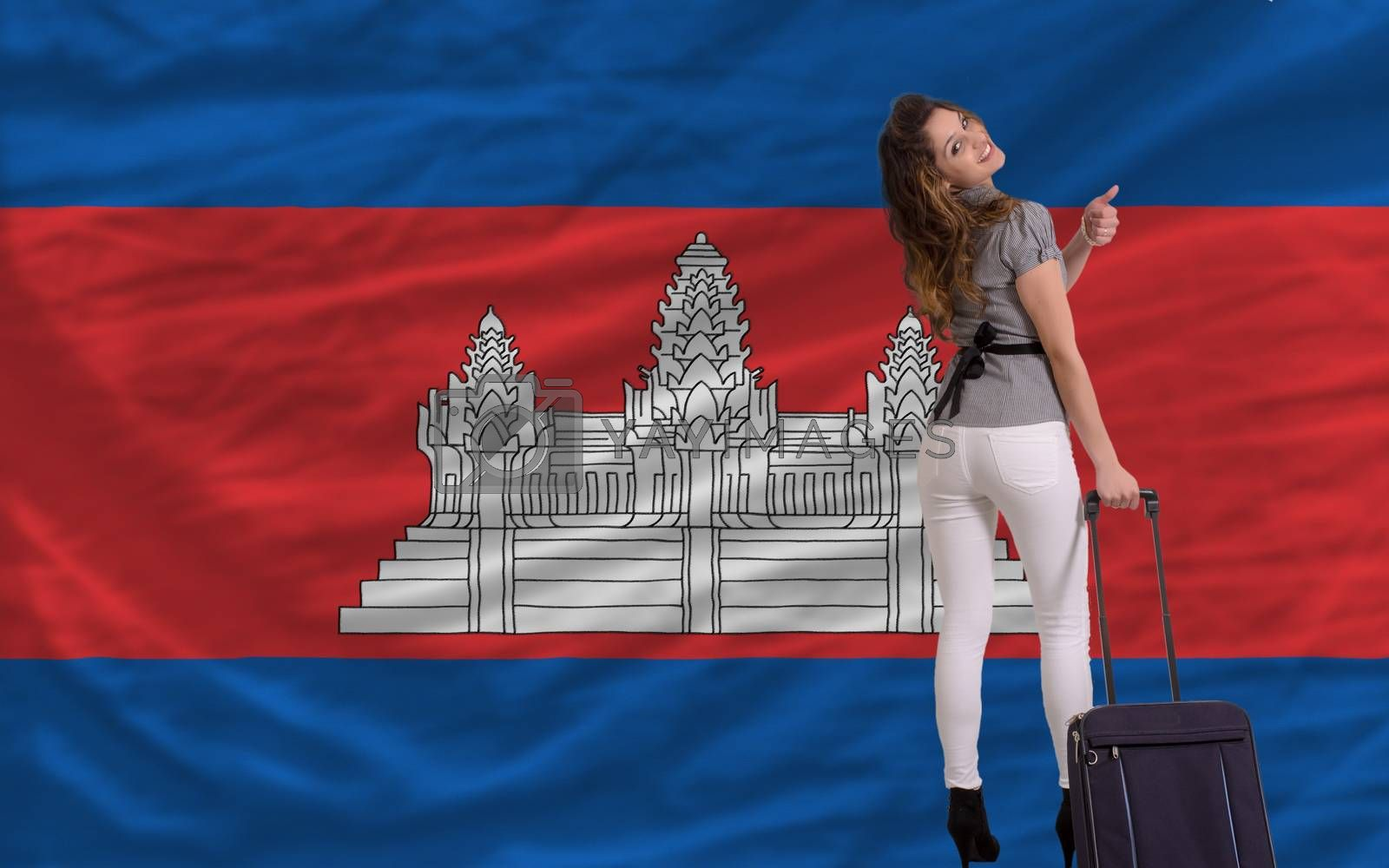 Royalty free image of tourist travel to cambodia by vepar5