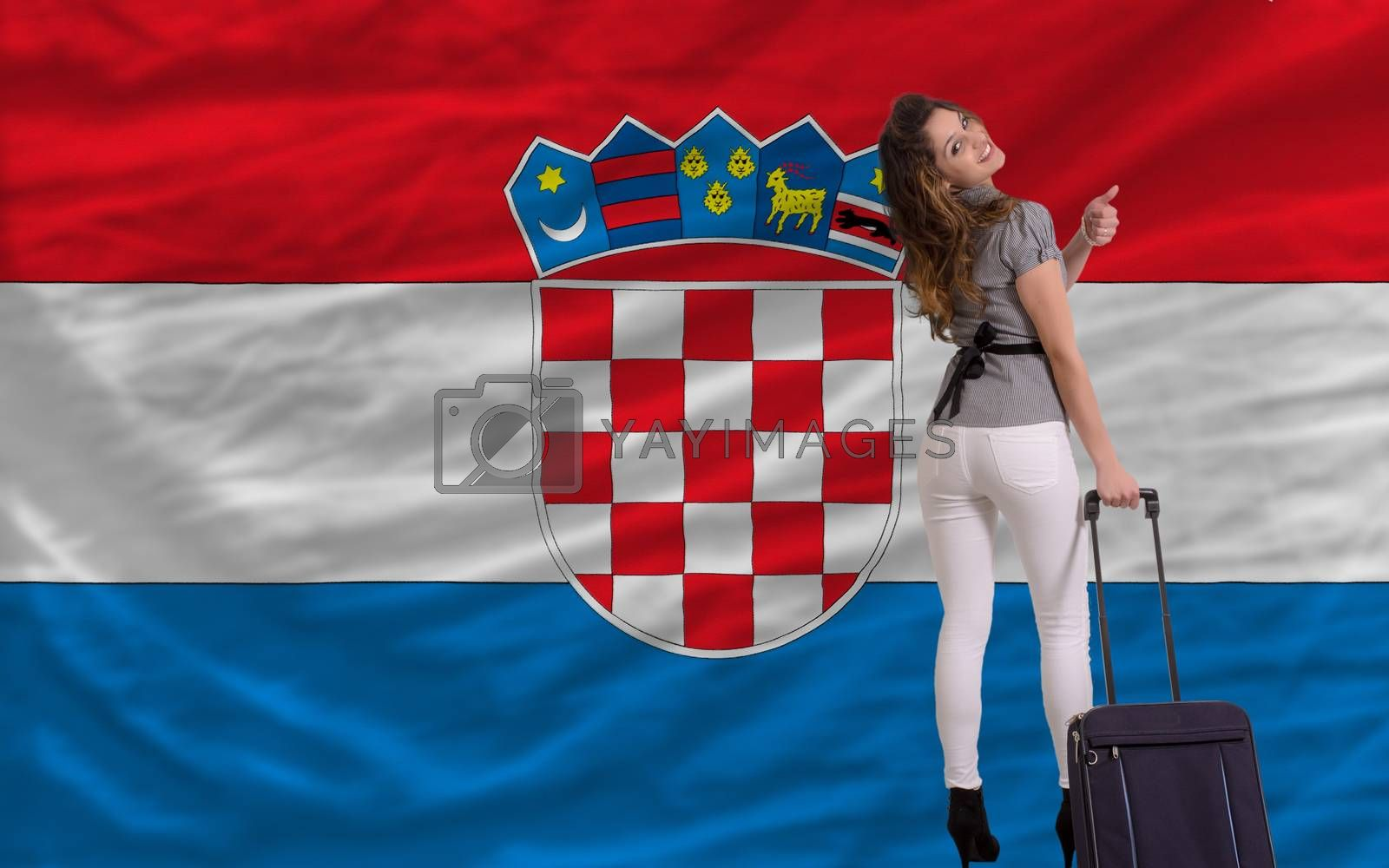 Royalty free image of tourist travel to croatia by vepar5