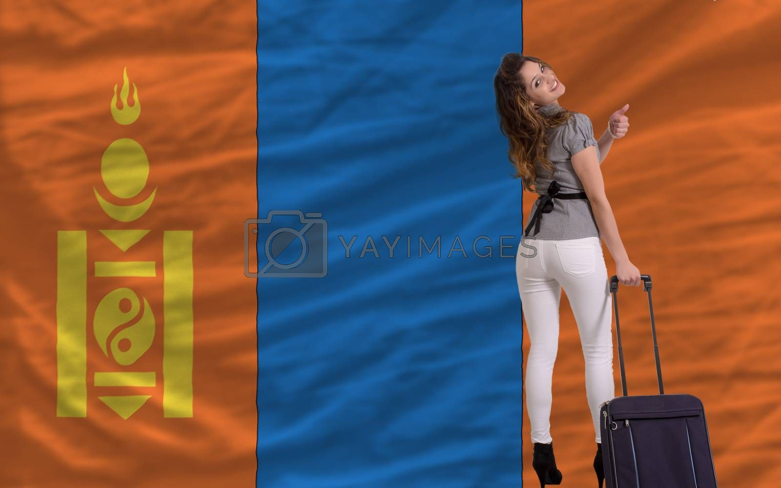 Royalty free image of tourist travel to mongolia by vepar5