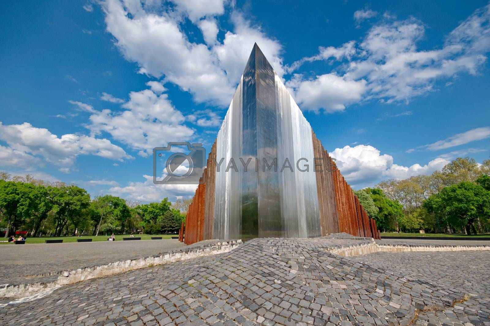 Abstract memorial for freedom fighters in Budapest, Hungary
