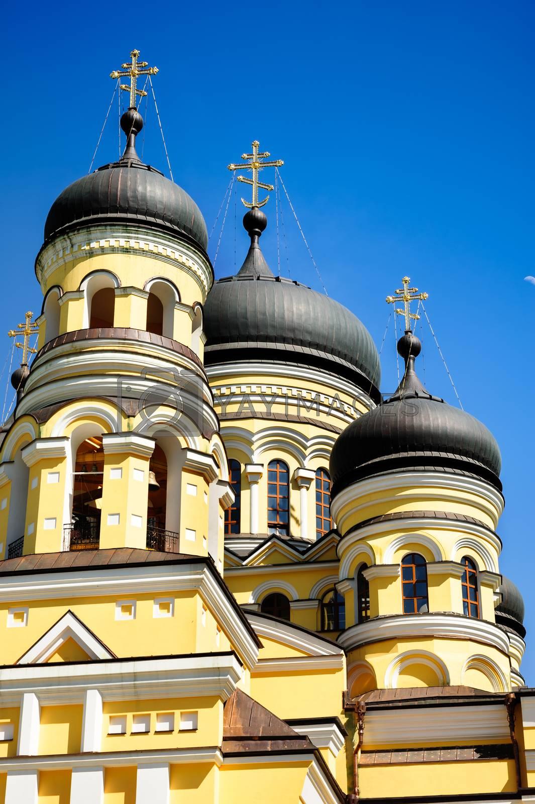 Main church in the Hancu Monastery, Republic Moldova by starush