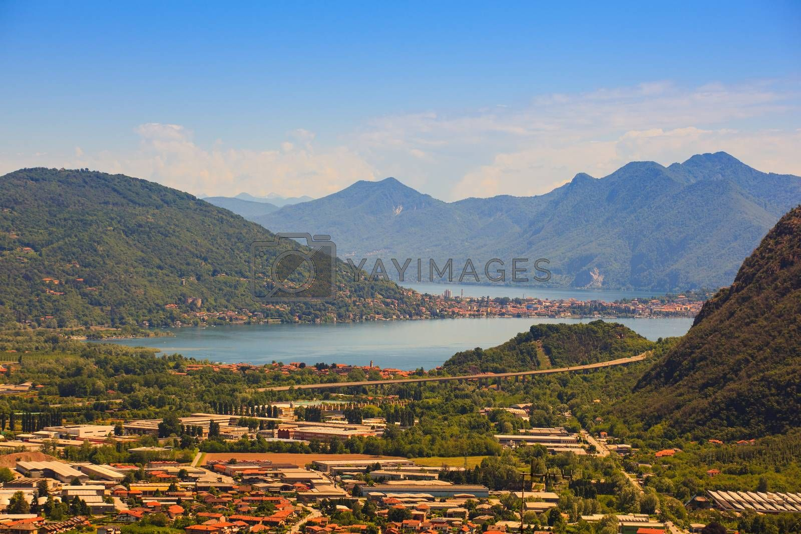 View of Maggiore lake from Arzo (Verbania), Italy