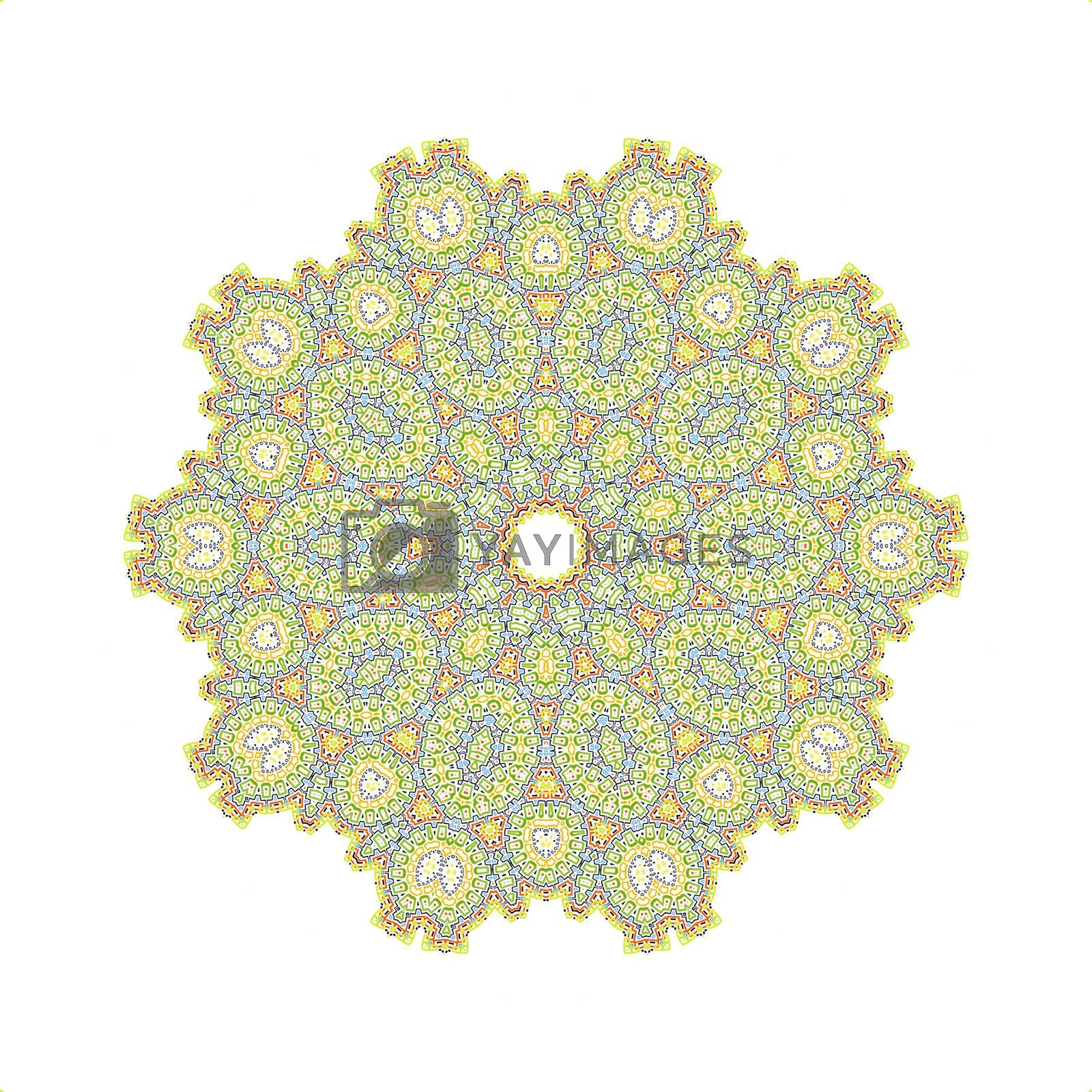 Color concentric design element on white background