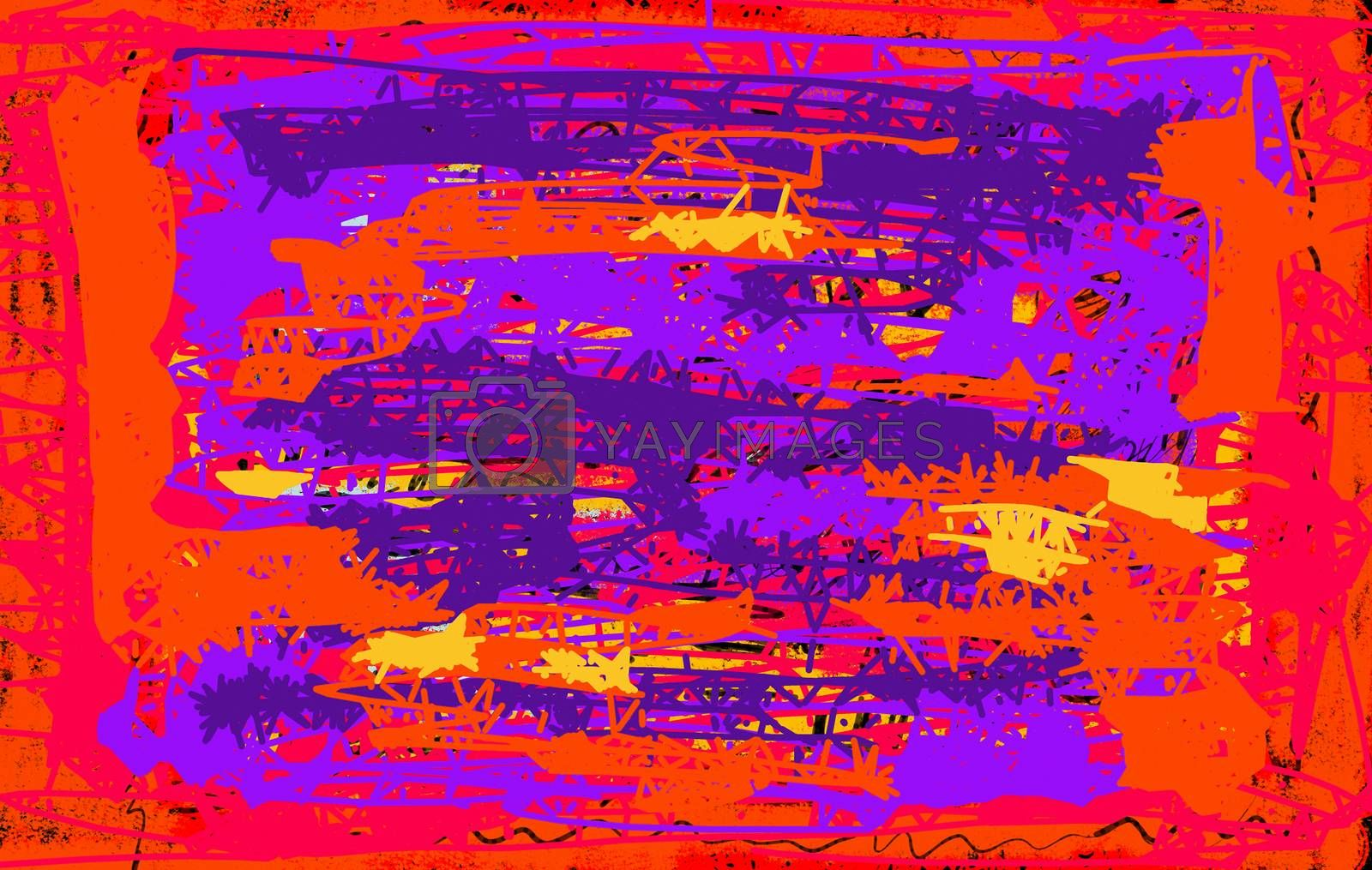 Bright grunge abstract background for design