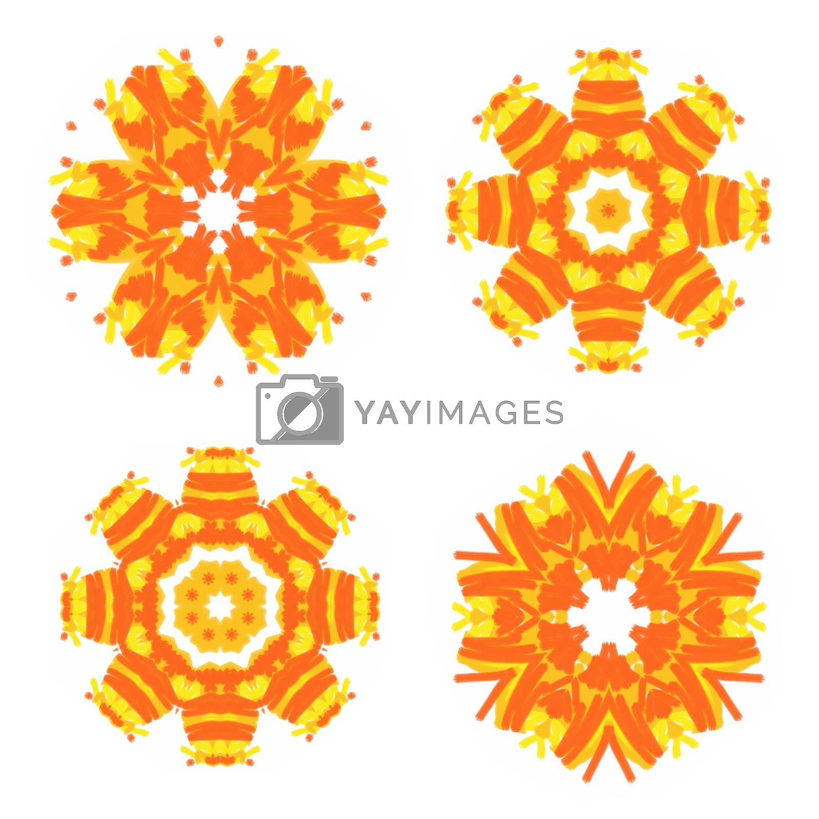 Set of bright abstract patterns for design