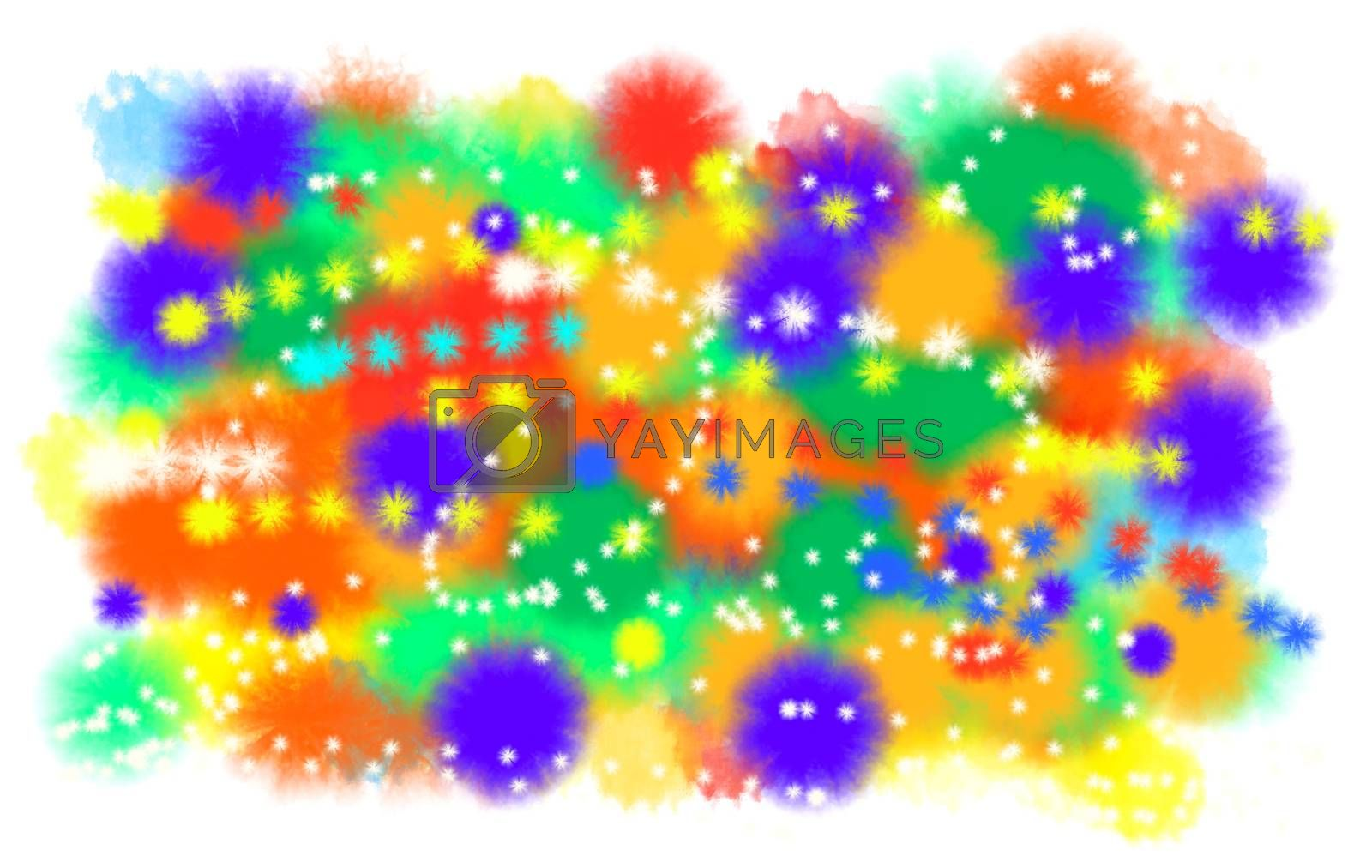 Abstract artistic color blots background