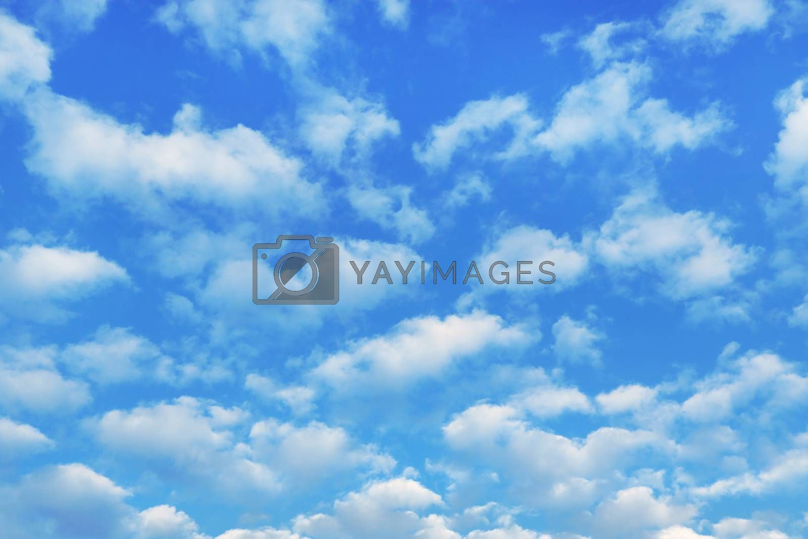 Nature background with blue sky and white clouds