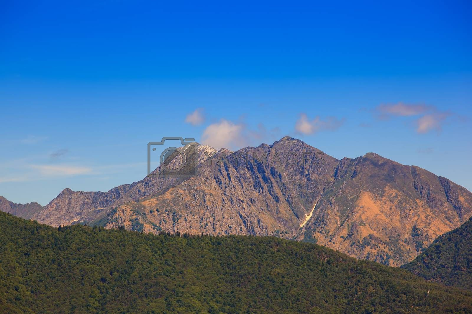 View of the Zeda mountain in Italy