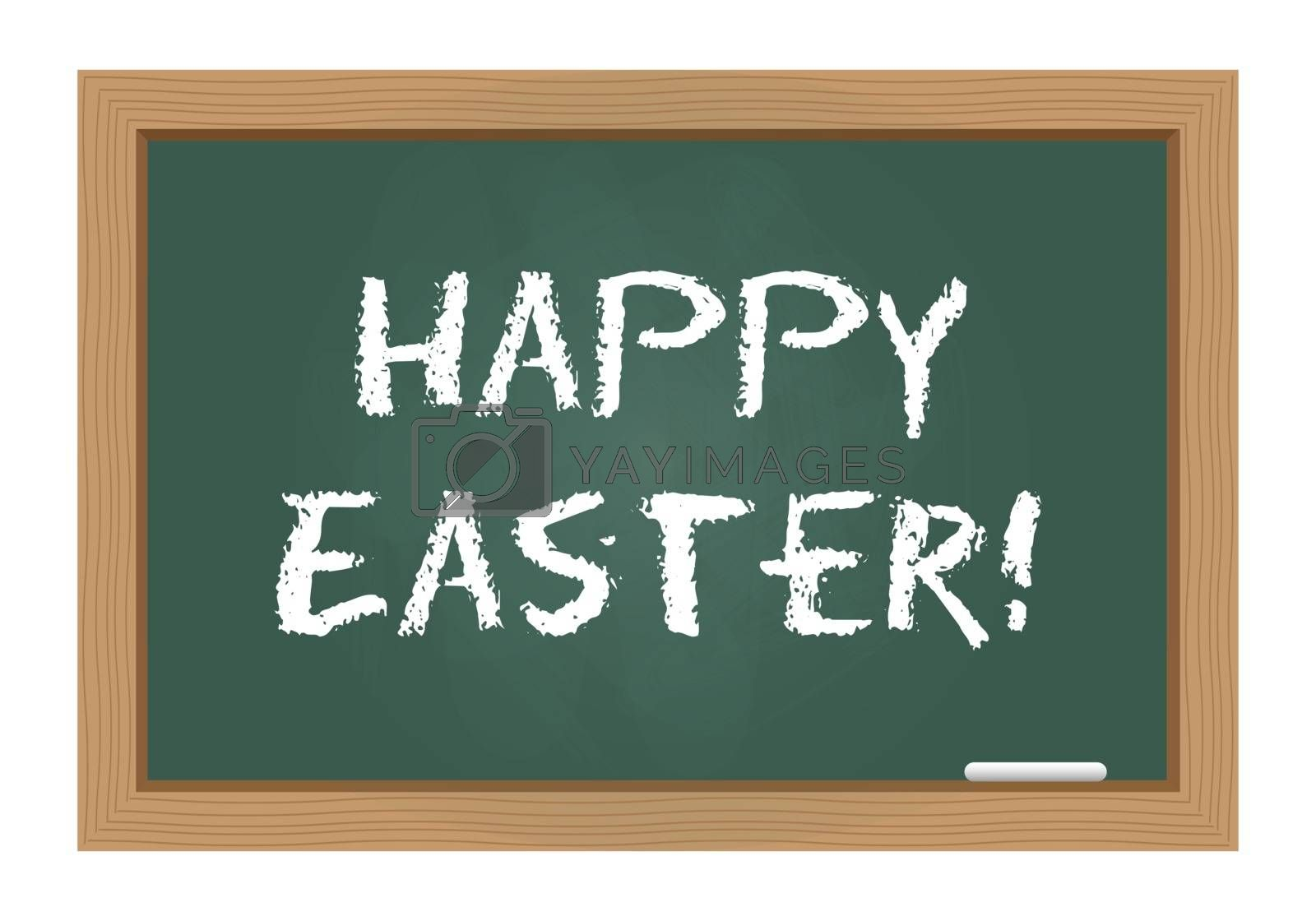 Royalty free image of Happy Easter on chalkboard by simo988