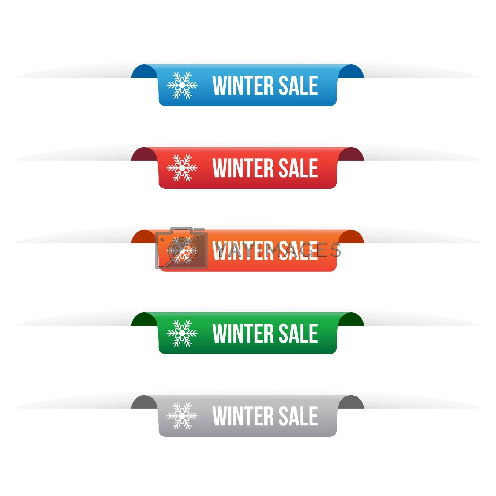Royalty free image of Winter sale paper tag labels by simo988