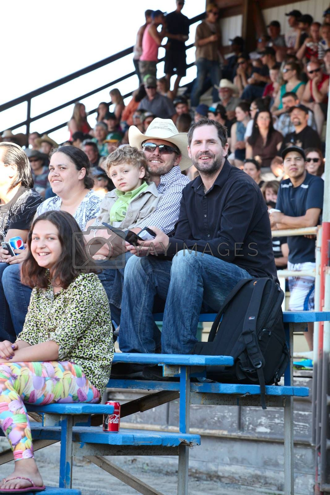 MERRITT, B.C. CANADA - May 30, 2015: Spectators at The 3rd Annual Ty Pozzobon Invitational PBR Event.
