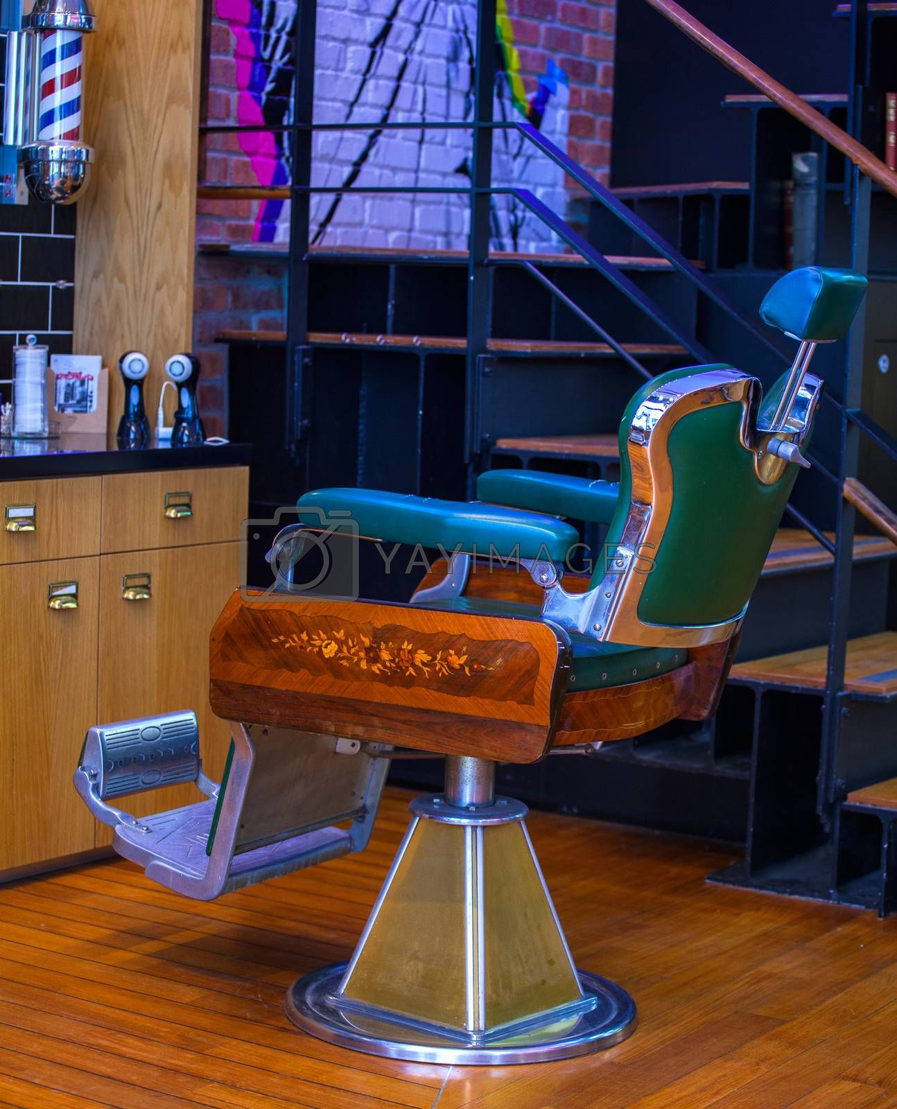 Vintage barber chair by bepsimage