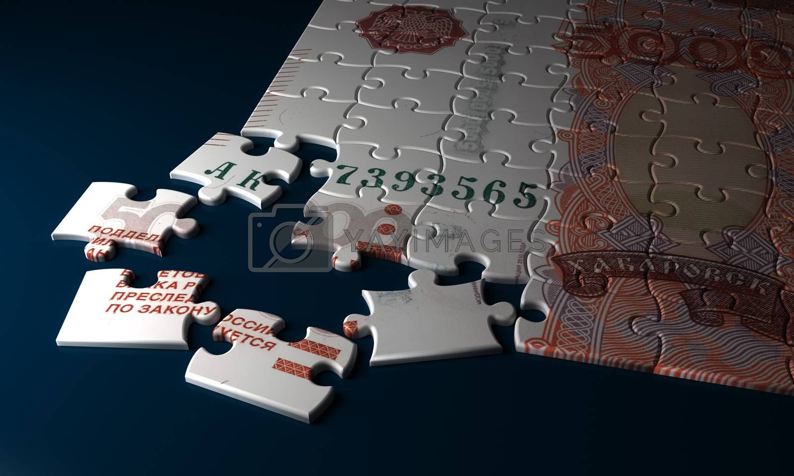 Russian Ruble Puzzle