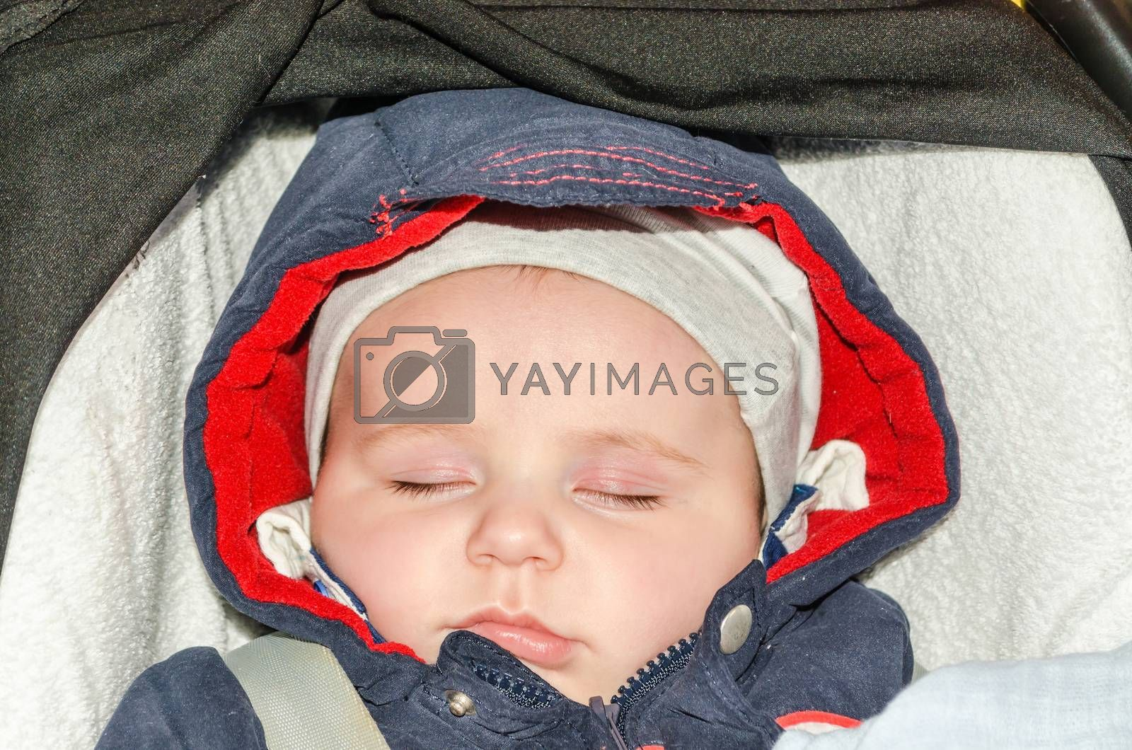 Baby, Toddler is peaceful sleeping.