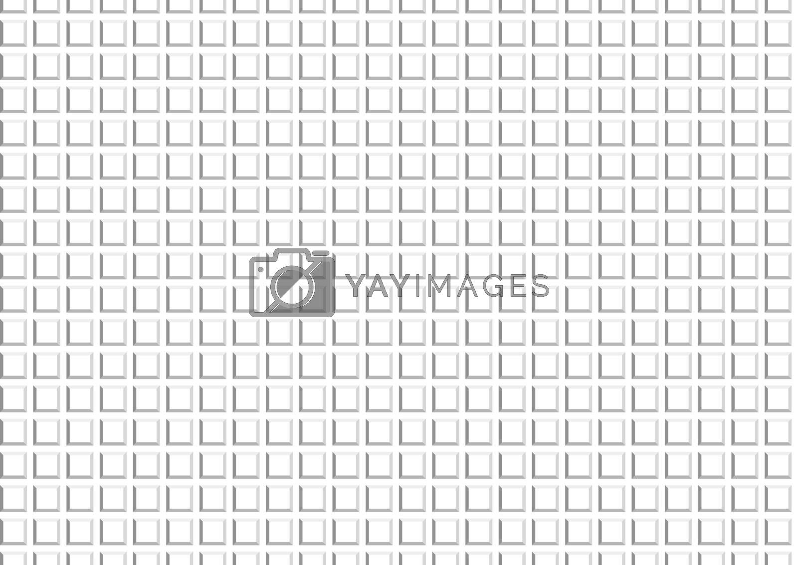 3D Texture - Embossed Squared Pattern, Vector Illustration