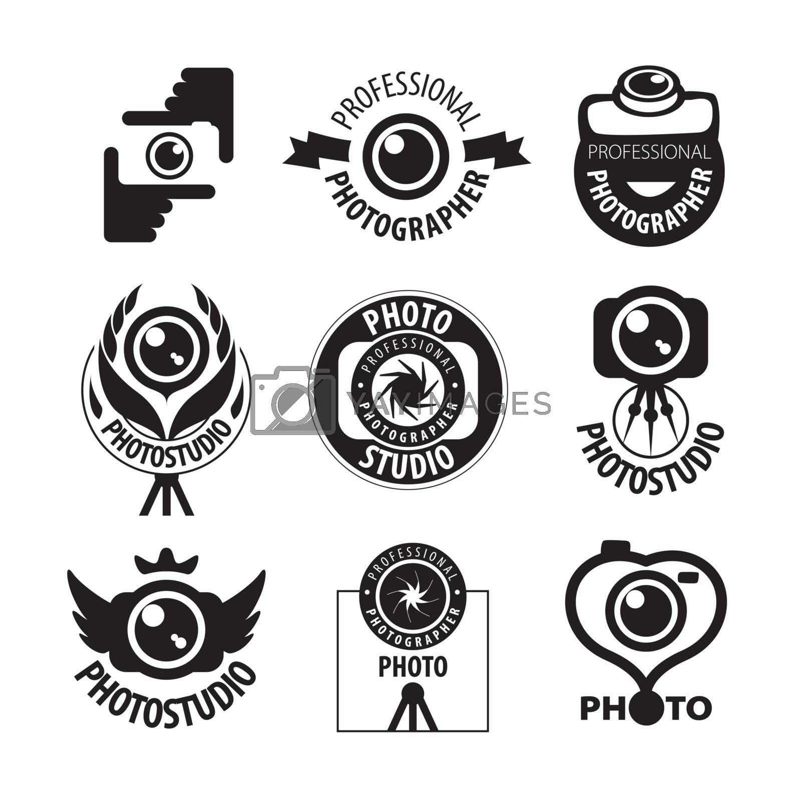 big set of vector logos for professional photographer